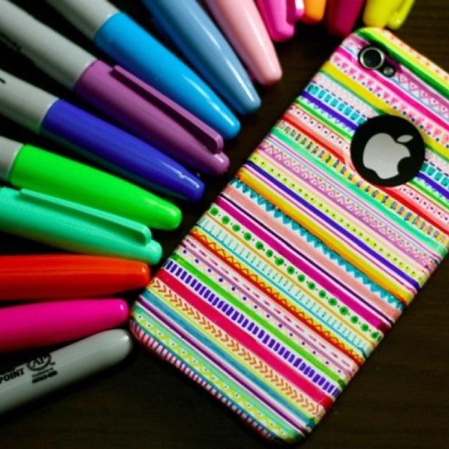 Decorating phone cases