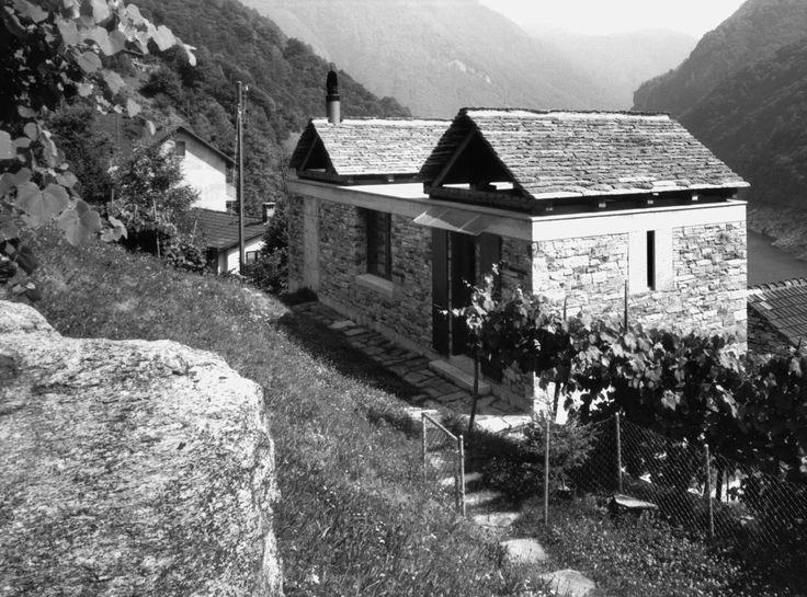 Casa Rezzonico 1984-1985 Vogorno, TI  Livio Vacchini Architect