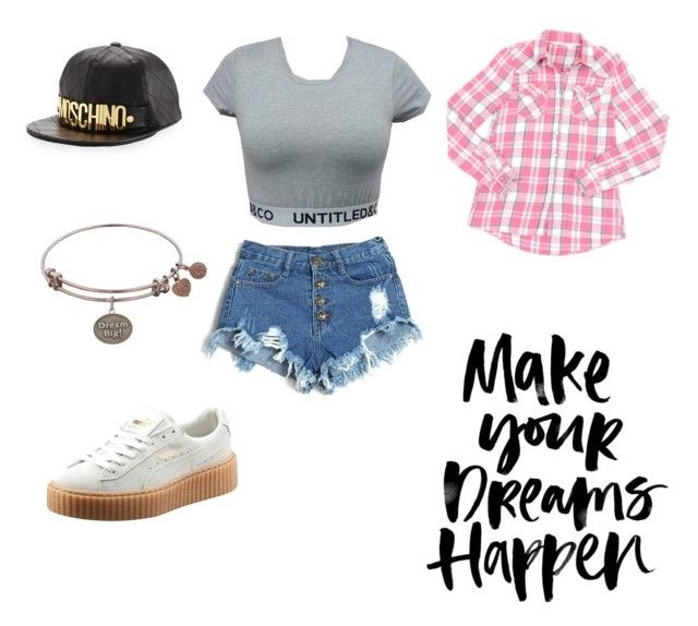 """""""tenue sans nom #3 (chemises autour de la taille)"""" by stylebyadenas ❤ liked on Polyvore featuring Puma and Moschino"""