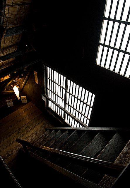 Inside of the old folk house in Shirakawa village, Japan