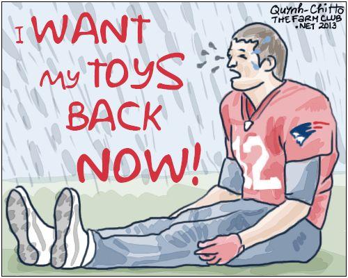 Weekly Cartoons: A Very Brady Tantrum (NFL, Tom Brady, cry baby, cartoons)