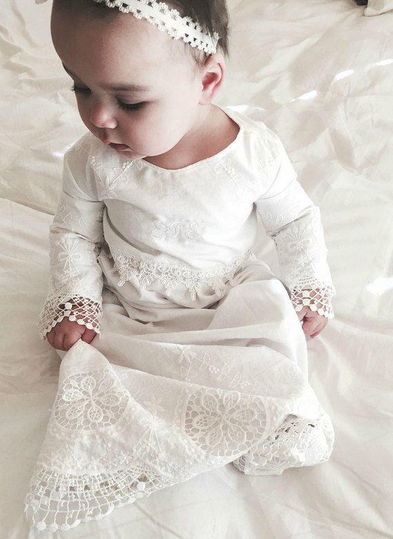 Baptism baby girl christening dress-White Handmade4LittleGirls 115.00 free monograming