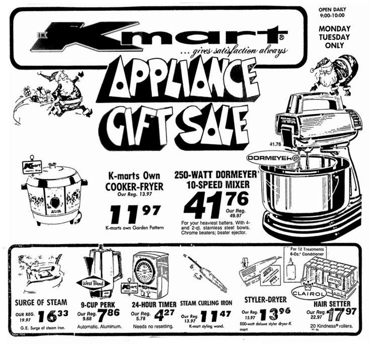 Kmart Appliance Gift Sale - December 1975