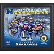 Seattle Seahawks 2013 NFC West Champs Framed 15'' x  17'' Collage with Game-Used Football - Limited Edition of 500