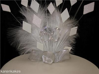 60th Diamond Wedding Anniversary Cake Topper