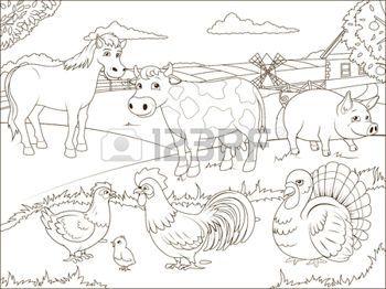 46507985-granja-historieta-libro-para-colorear-juego-educativo-ilustraci-n-vectorial.jpg (350×262)