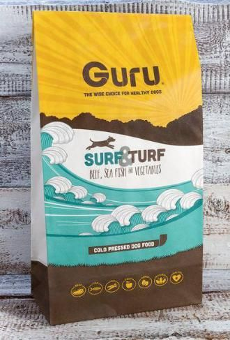 Guru Surf & Turf Dog Food. Guru believe that your four legged friend deserves natural food full of natural ingredients.
