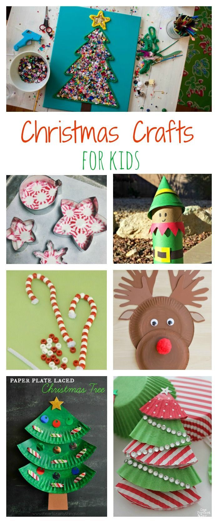 Top 10 Christmas Crafts for Kids! Reindeer, Santa, Christmas tree crafts and more!