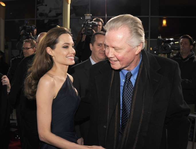 Angelina Jolie with Jon Voight - Kevin Winter/Getty Images