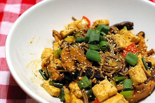 Spicy Tofu and Soba Noodles | Recipes To Try | Pinterest