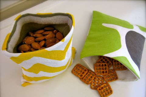 DIY Beginner Sewing - Tutorials for snack bags, a Kindle cover, drawstring bags, an infinity scarf and more!