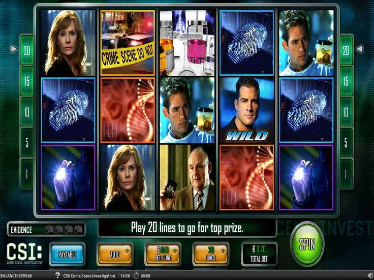 CSI - http://freeslots77.com/csi/ - IGT brings a glimpse of the popular crime series CSI with this online slot machine that will not only take you back to the time but also give you a chance to win the prize of 25,000 out of this game. The slot will also give you the opportunity to play with plenty of bonus features like free...