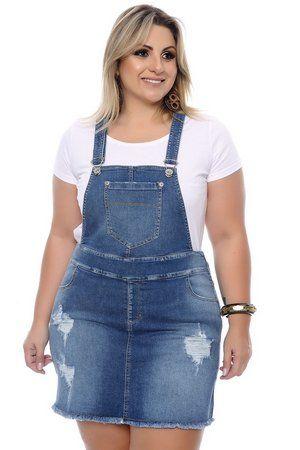 577d9862e Jardineira Jeans Plus Size Livie   clothes & accessories ...