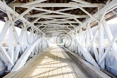 Groveton covered bridge (1852), new hampshire, usa na obrazach Redro. Najlepszej jakości fototapety, naklejki, obrazy, plakaty, poduszki. Chcesz ozdobić swój dom? Tylko z Redro
