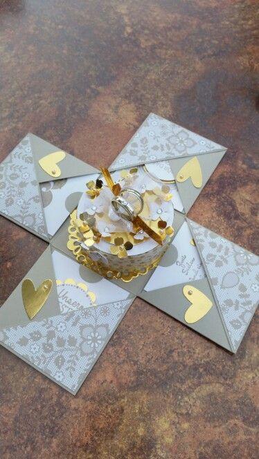 Explosionsbox Zur Goldenen Hochzeit Card Explosionsbox