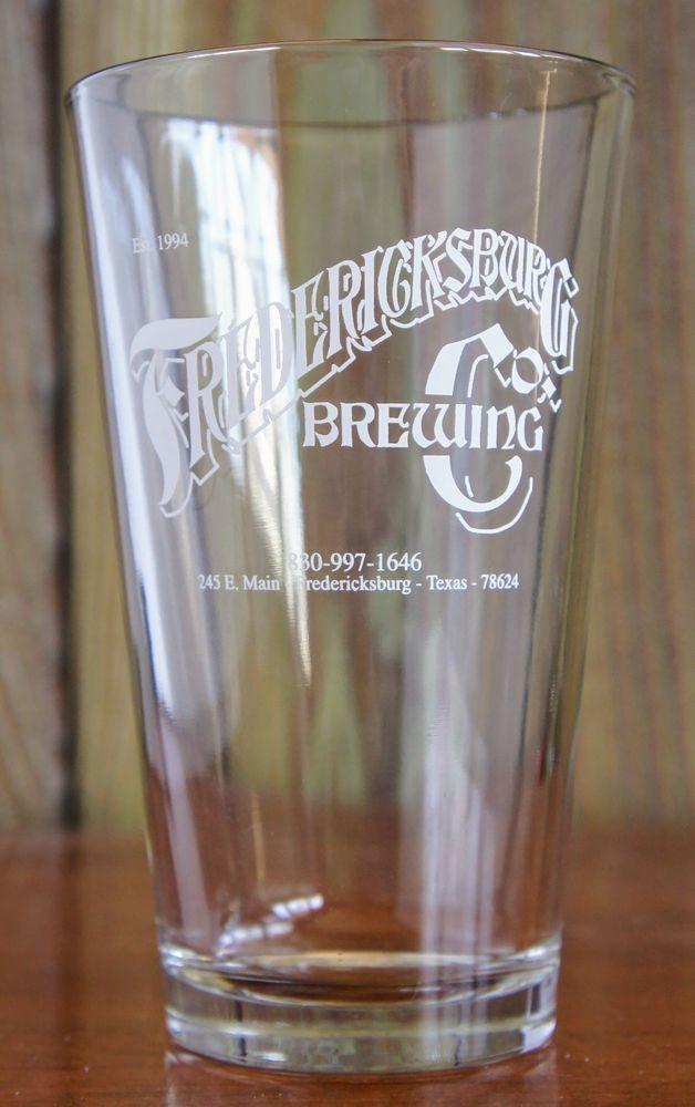 Fredericksburg Brewing Company American Shaker Pint Glass Texas