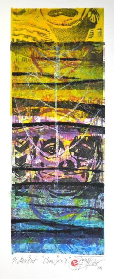 "Saatchi Art Artist Tezcan Bahar; Printmaking, ""Clown Series - 4 - Limited Edition 1 of 1"" #art"