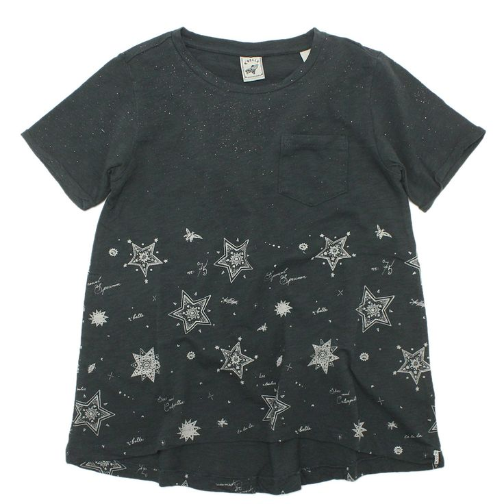 SCOTCH&SODA(スコッチ&ソーダ):R BELLE / スター総柄半袖Tシャツ チャコール(601) の通販【ブランド子供服のミリバール】