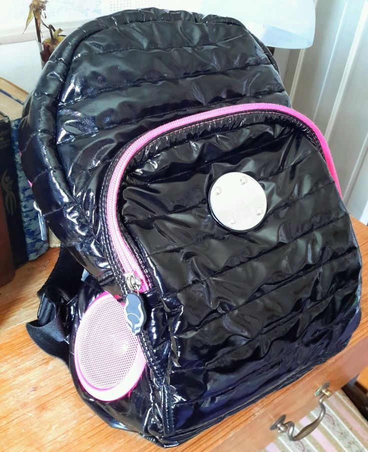 Cyber dog Backpack bag with Speakers Working Batteries Included VGC Punk Goth