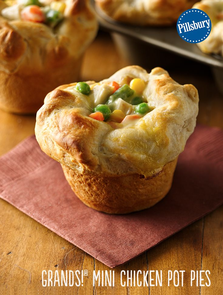 Chicken pot pie with just 4 ingredients? It couldn't get any easier! Use biscuits, soup, veggies and chicken for a kid-friendly dinner.