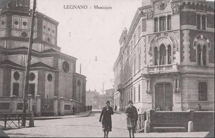 Legnano, Palazzo Malinverni e la Basilica di San Magno, via Felice Cavallotti angolo Via Girardelli. #Legnano #Città #Comune #Church