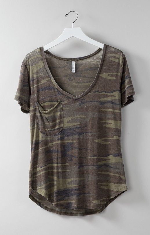 This ultra-soft women's camo shirt allows you to create a comfortable yet stylish look. This comfortable camo shirt will turn heads no matter where you go.