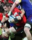 Crusaders' Richie McCaw tries to break through