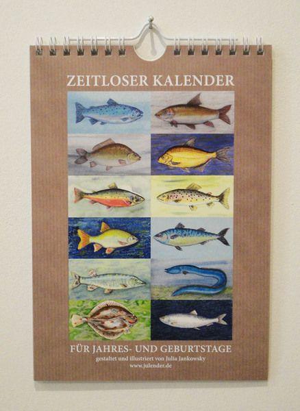 Geburtstagskalender - Fische-Geburtstagskalender - ein Designerstück von Julender bei DaWanda