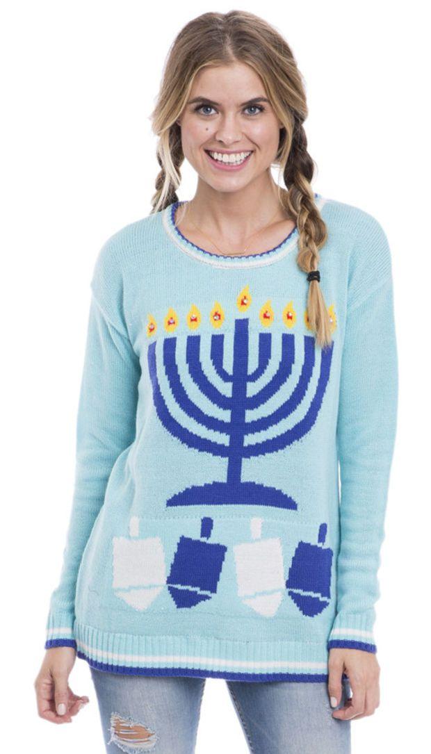 Light Up The Night Ugly Hanukkah Sweater