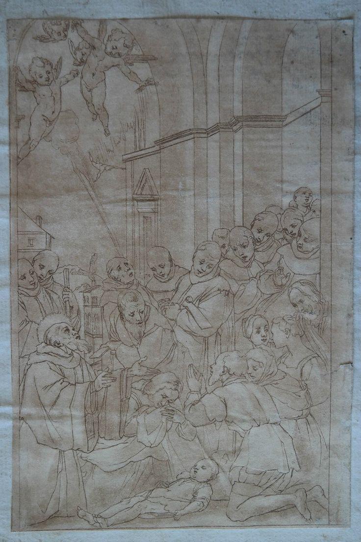 Disegno a mano-Drawing. Italia all'inizio del 17. secolo!!! | eBay
