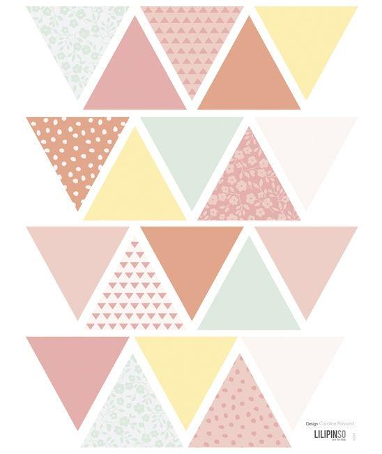 Stickers géométrique pastels