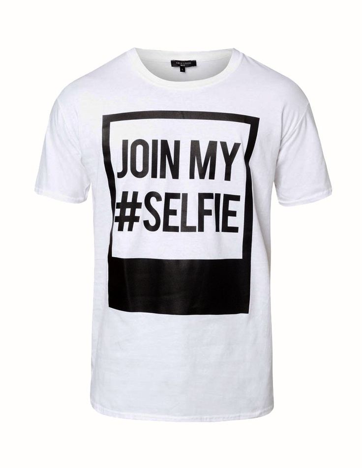 Join My Hashtag Selfie T-Shirt by New Look come with minimalist style, t-shirt with simple detail typography. Timeless style. Made from cotton white color, round neck, short sleeve, stretchable. Selfie without hashtag with this t-shirt. http://www.zocko.com/z/JEoRf