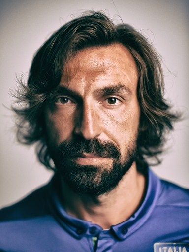 Andrea Pirlo of Italy poses during the official FIFA World Cup 2014 portrait session
