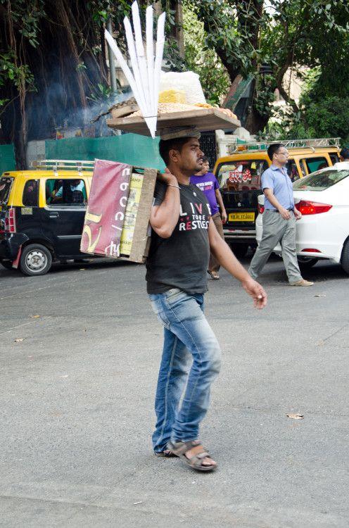 A Mumbai City Food Guide. Vendor in Colaba