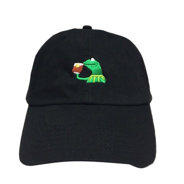 KERMIT NONE OF MY BUSINESS UNSTRUCTURED DAD HAT CAP FROG TEA LEBRON JAMES NEW casquette kenye west ye bear dad cap Big Daddy hat #jewelry, #women, #men, #hats, #watches