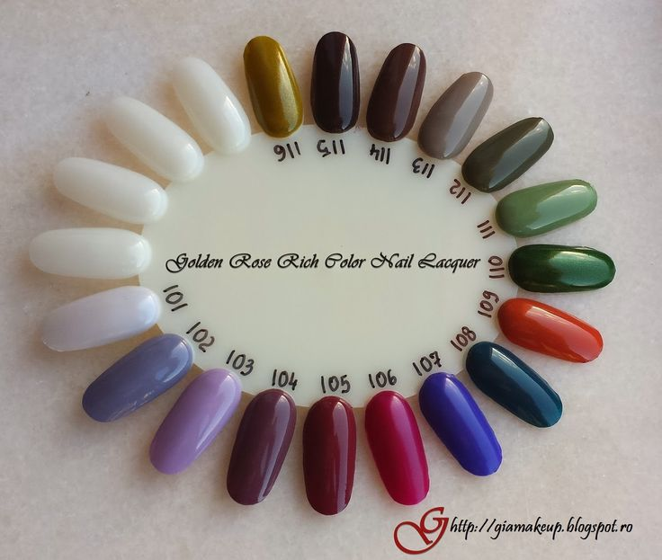 Gia Makeup Blog: Golden Rose Rich Color Nail Lacquer Collection (swatches and manicures)