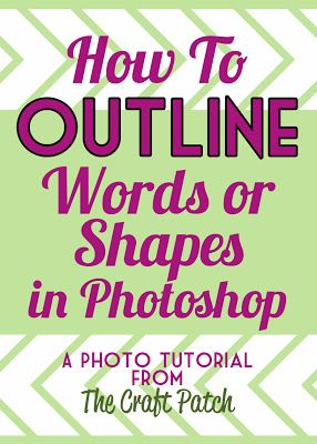 How To Outline Words or Shapes in Photoshop