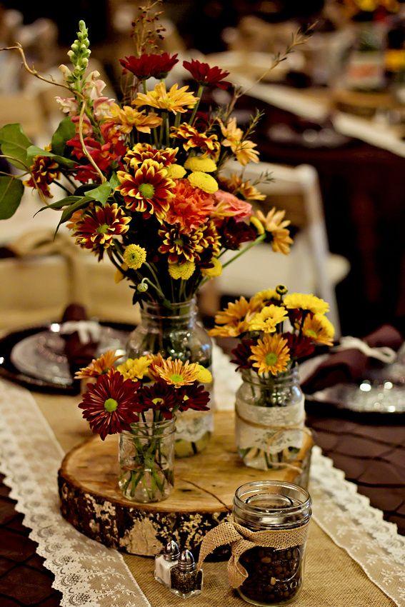October Wedding Centerpiece Flowers Decoration