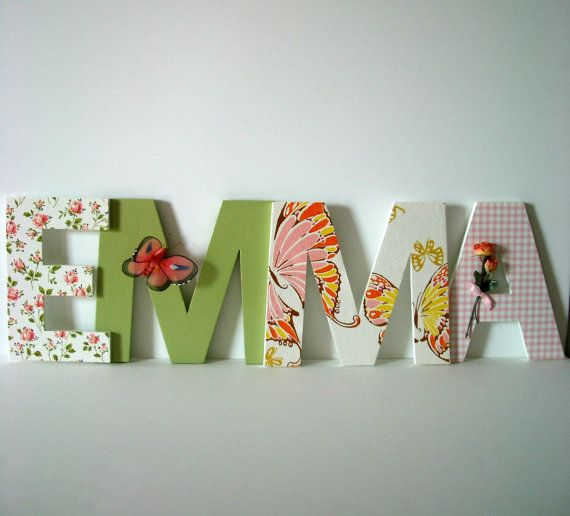 Personalized Name Wall Hanging - Emma