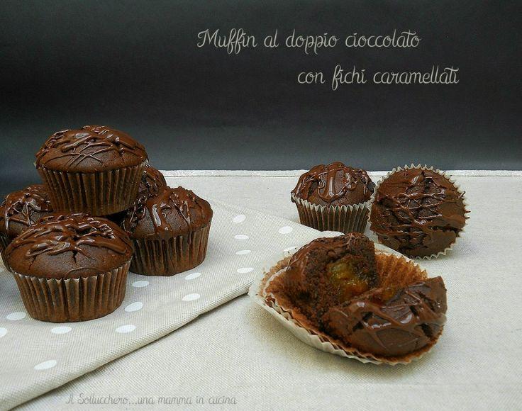 Se amate il cioccolato questo muffin fa per voi, un contrasto di sapori dato dalla dolcezza dei fichi e dal gusto amaro del cioccolato