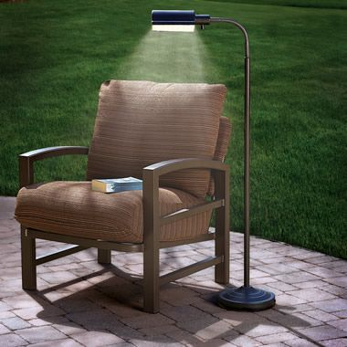 What A Great Idea, Perfect For The Patio The Cordless Outdoor Reading Lamp    Hammacher