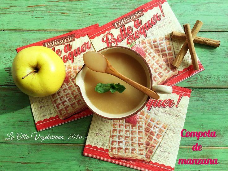 La Olla Vegetariana: Compota de manzana para Recetario Mañoso.-