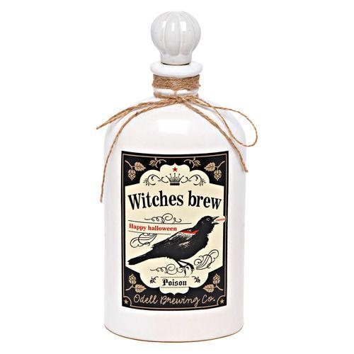 Ceramic Witches Brew Bottle, White $9.99 #gordmans #halloween #halloweendecor