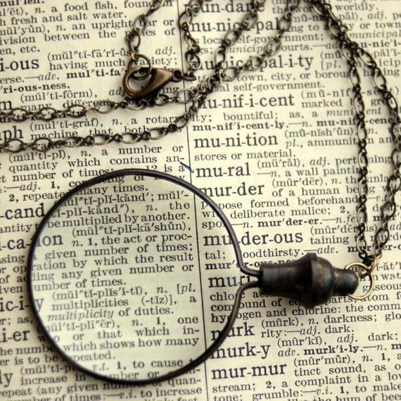 Monocle Necklace by ragtrader on Etsy, $27.00