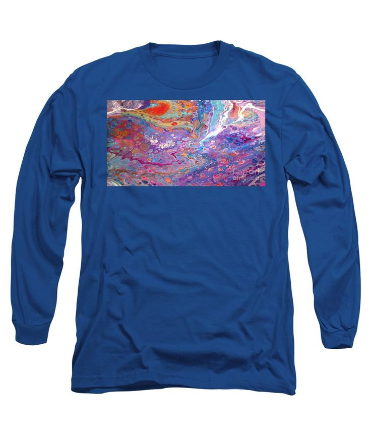 Purchase a long-sleeve t-shirt featuring the image of #149 Wet Pour by Expressionistart studio Priscilla Batzell.  Available in sizes S - XXL.  Each t-shirt is printed on-demand, ships within 1 - 2 business days, and comes with a 30-day money-back guarantee.