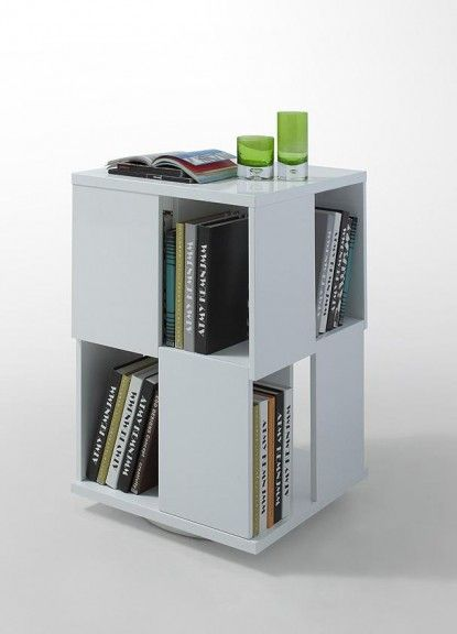 Modern White Lacquer Magazine Rack - http://www.furnishedup.com/accents/display-unit/modern-white-lacquer-magazine-rack.html