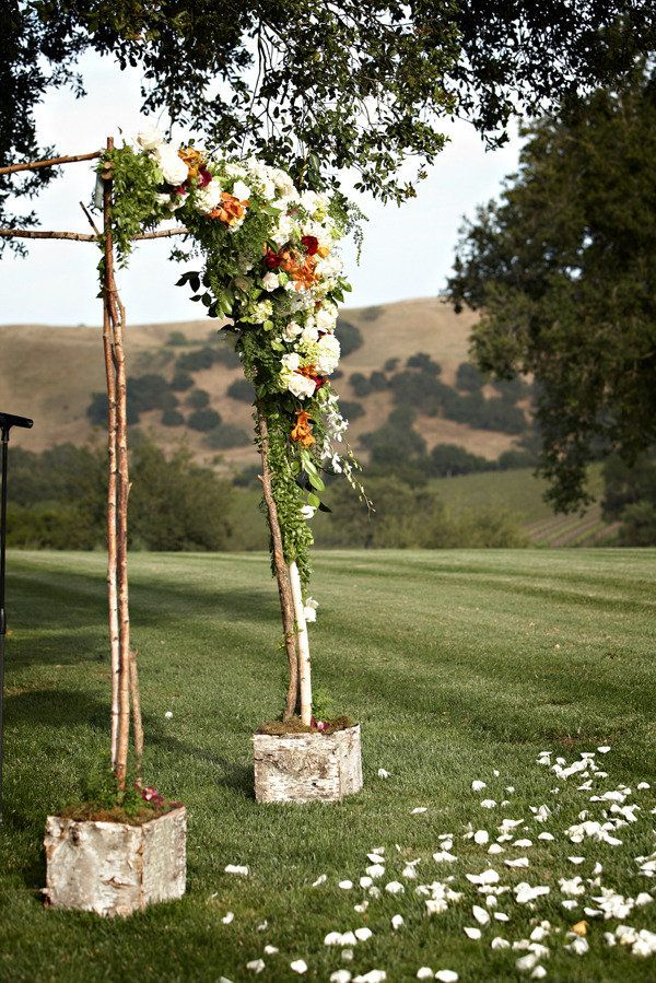 floral ceremony arch.