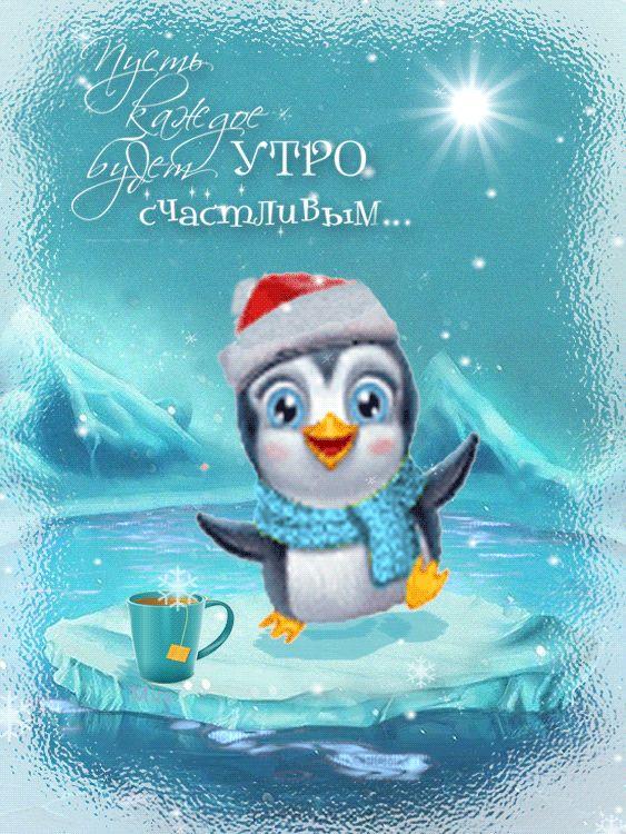 Доброе утро зимние открытки с пожеланиями, дизайн студии самые