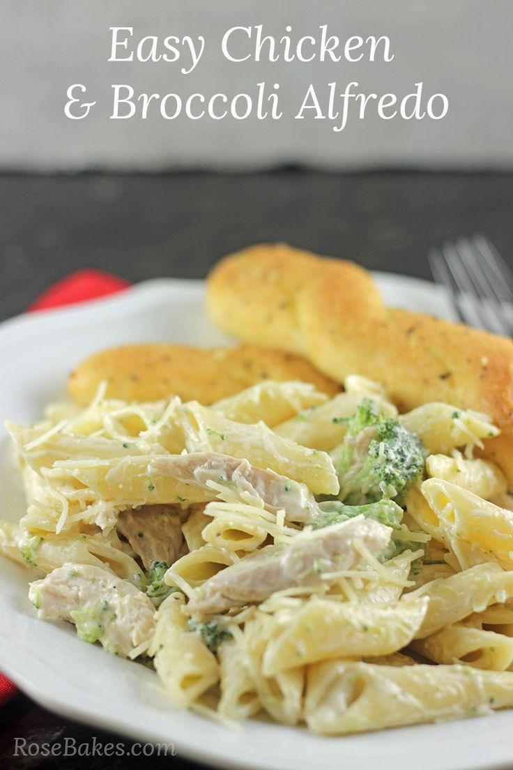 Easy Chicken  Broccoli Fettuccine Alfredo  Recipe -2930