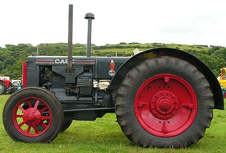For tractor fans there is always a good selection of makes and models at the West Cumbria Vintage Rally. This Case tractor painted dark grey with red trim is a model C from 1936. It was built during February 1935 in the J.J. Case factory in Racine, Wisconsin but shipped to England some time later. It was restored by the present owner between 1998 and 2005.